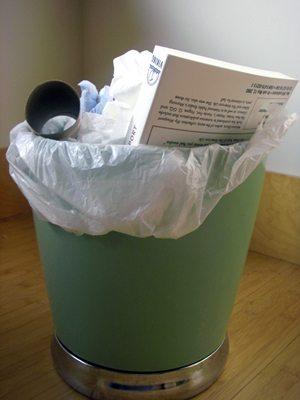 the book in the trash